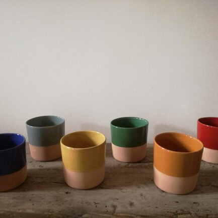 Set of 6 terracotta cups