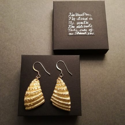 Large split-shell earrings