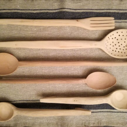 handcarved wooden spoons